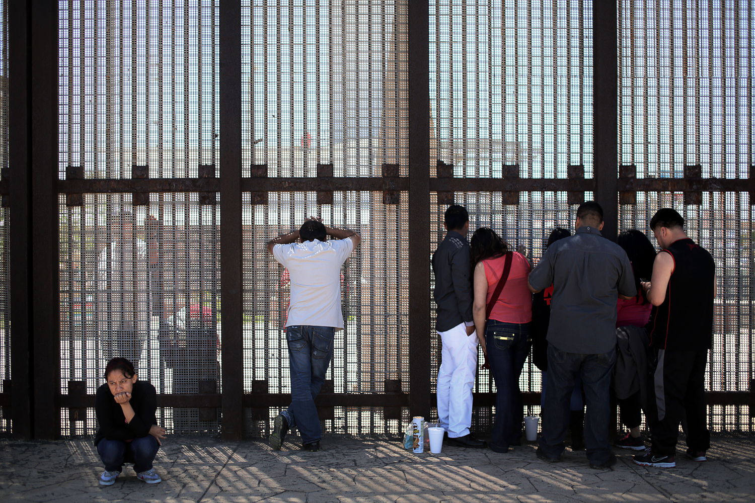 Apr. 6, 2014. People visit with loved ones through the U.S.-Mexico border fence at Friendship Park in San Ysidro, CA. Many deported families and friends visit each other, mainly on weekends, at the park after being separated by immigration officials.