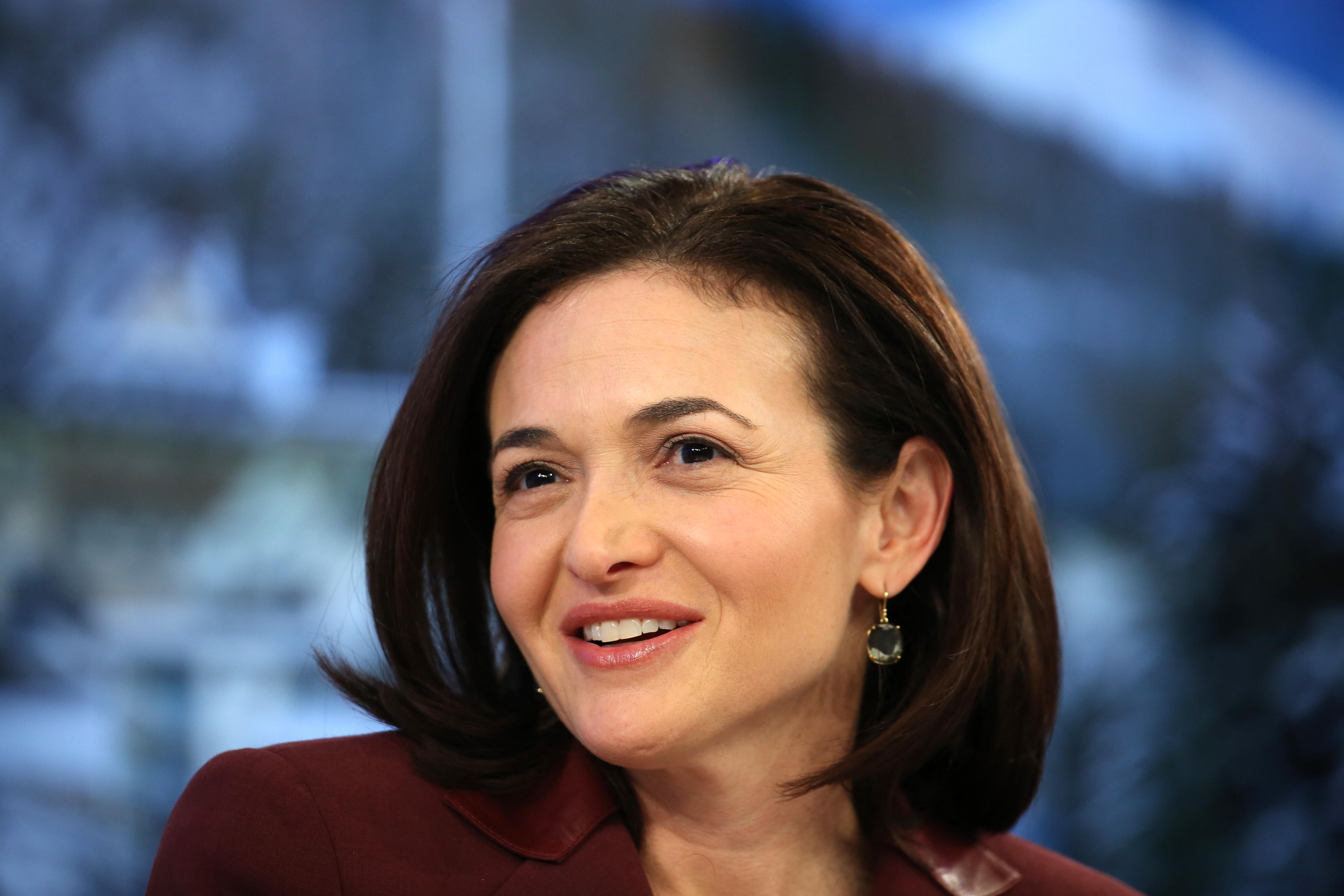 Sheryl Sandberg, billionaire and chief operating officer of Facebook Inc., pauses during a panel session on day four of the World Economic Forum (WEF) in Davos, Switzerland, on Saturday, Jan. 25, 2014.