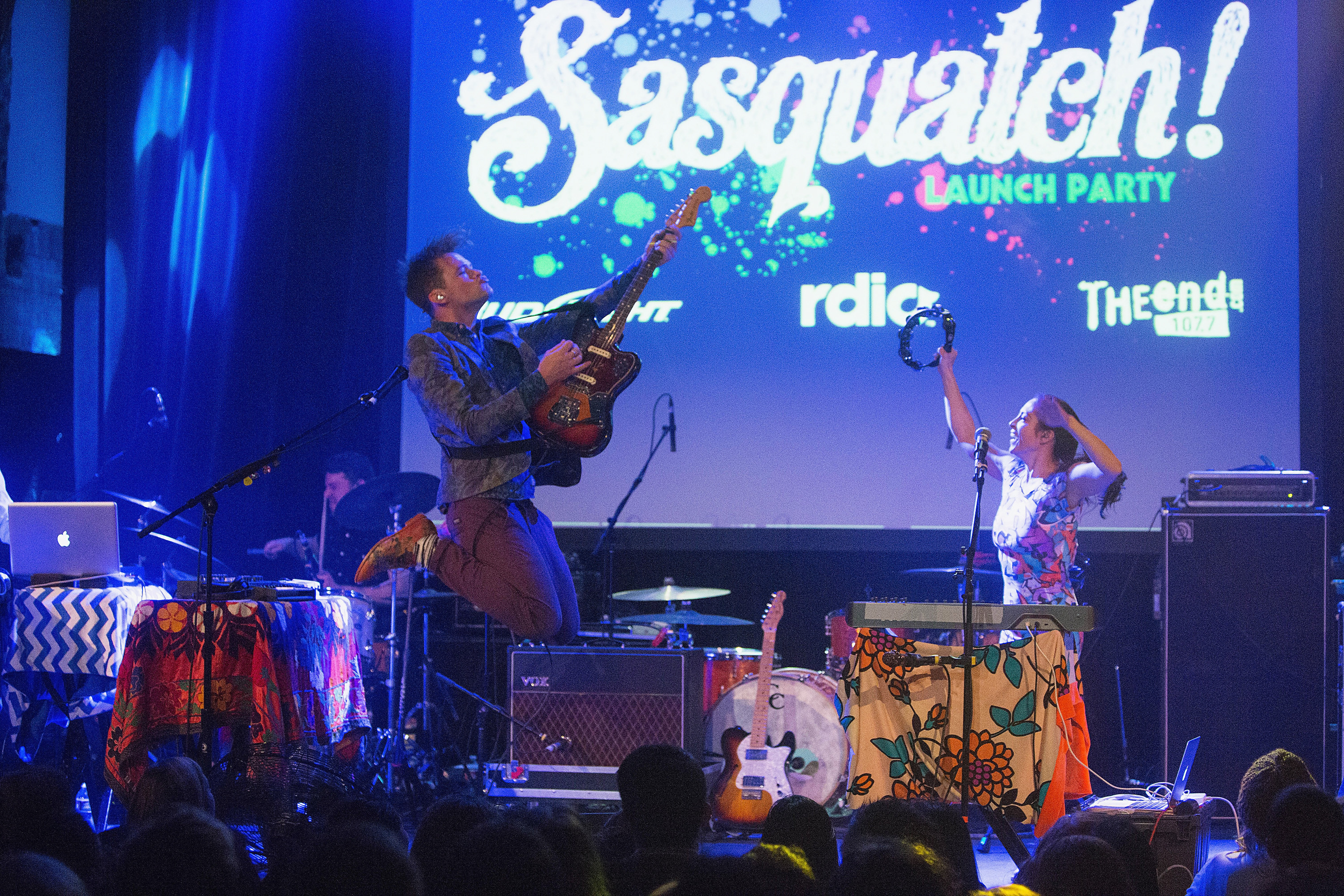 St. Lucia performs on stage at the Neptune Theatre for the Sasquatch! Music Festival on February 3, 2014 in Seattle, Wa.