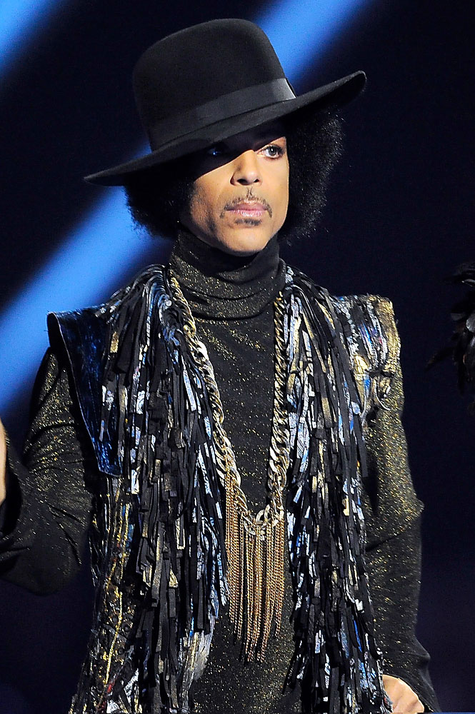 Prince at The BRIT Awards 2014,  Feb. 19, 2014 in London.