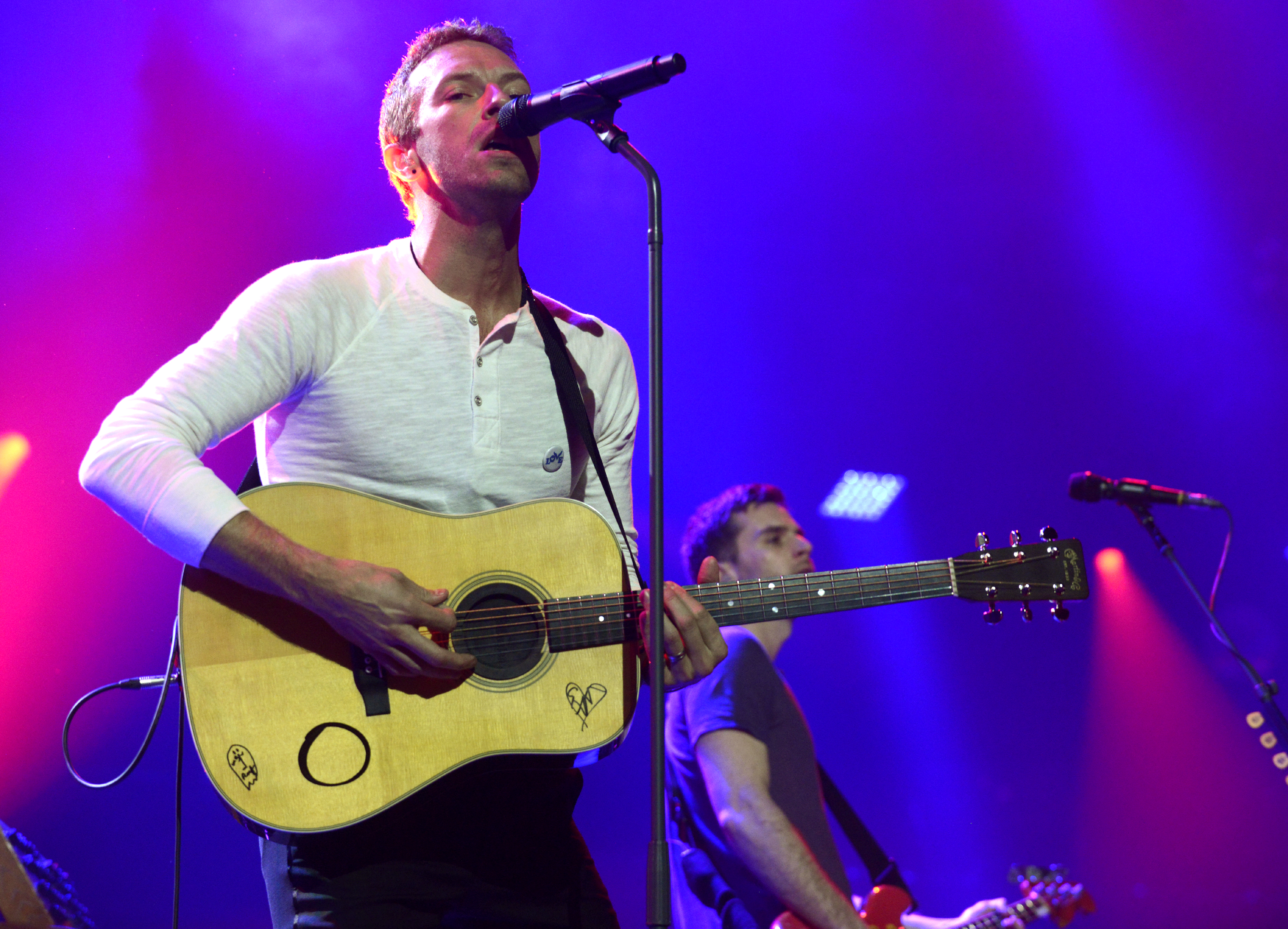 Chris Martin of Coldplay performs as part of the iTunes Festival at the Moody Theater on March 11, 2014 in Austin, Texas.