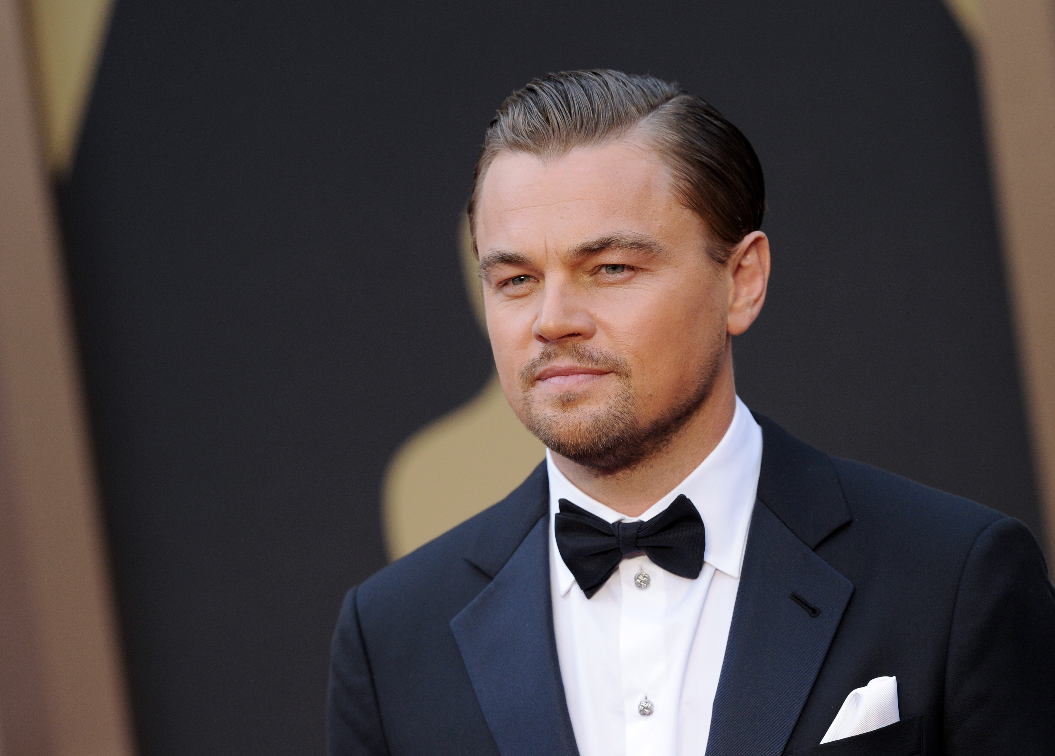 Leonardo DiCaprio arrives at the 86th Annual Academy Awards on March 2, 2014 in Hollywood.