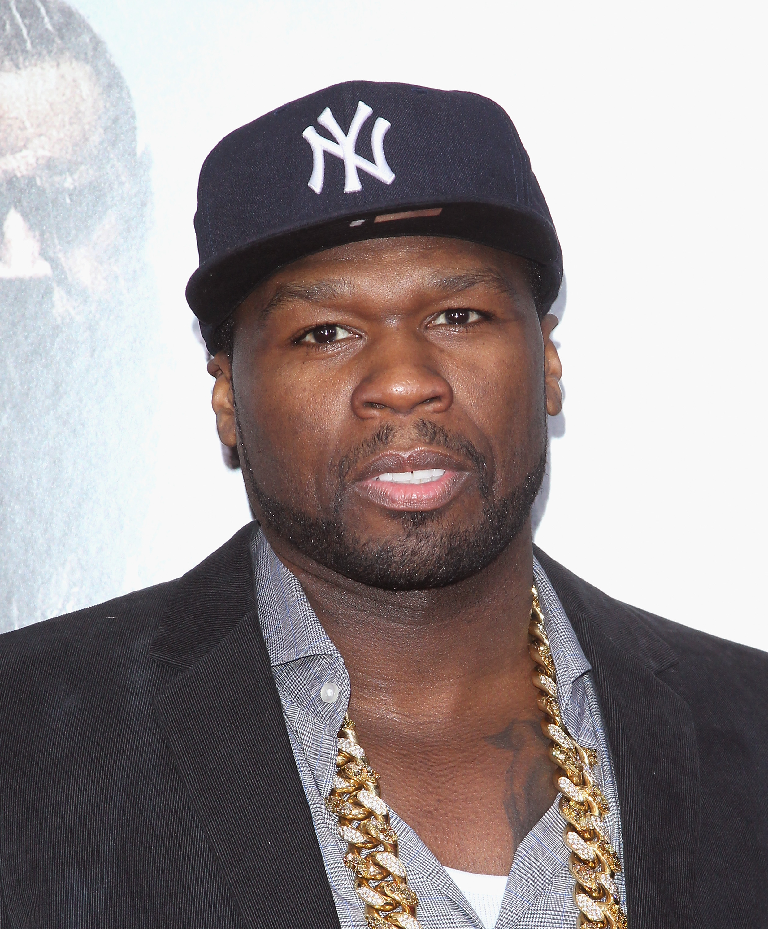 Rapper/actor 50 Cent attends the  Noah  New York Premiere at Ziegfeld Theatre on March 26, 2014 in New York City.