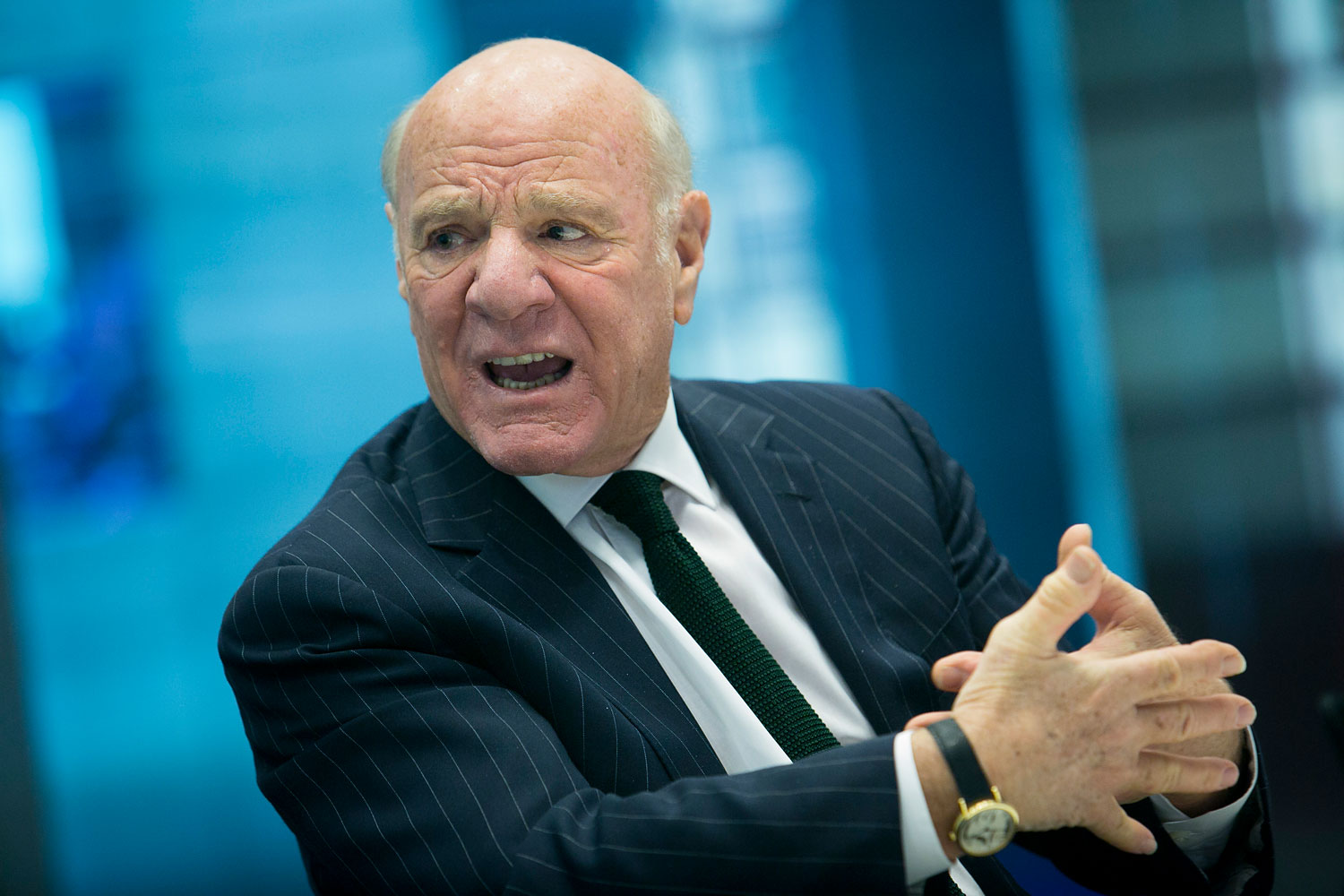 Barry Diller, chairman and chief executive officer of IAC/InterActiveCorp., speaks during an interview in New York, April 1, 2014.
