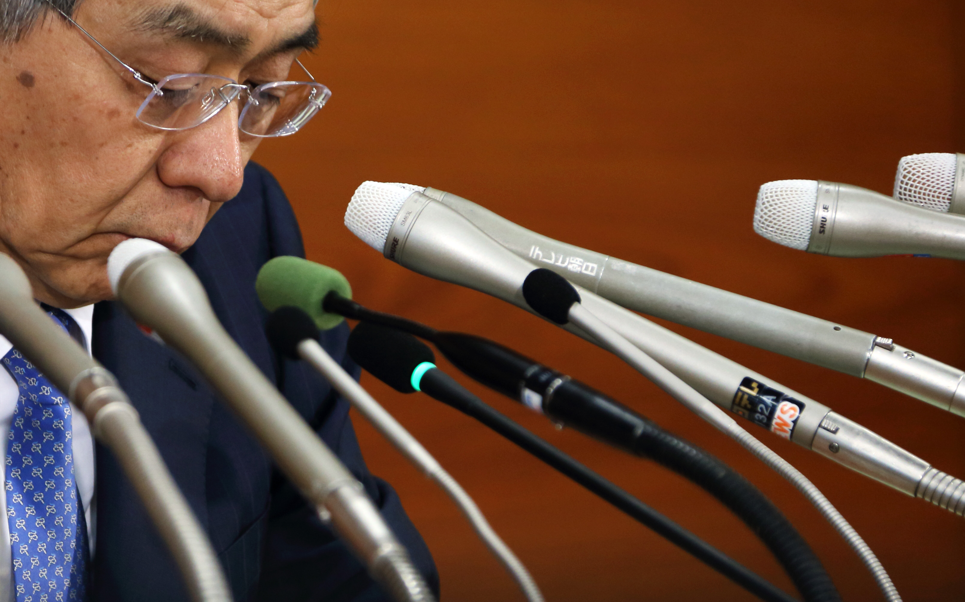 This man can't save the economy by himself, and neither can any other central banker. Haruhiko Kuroda, governor of the Bank of Japan, during a news conference in Tokyo on April 8, 2014