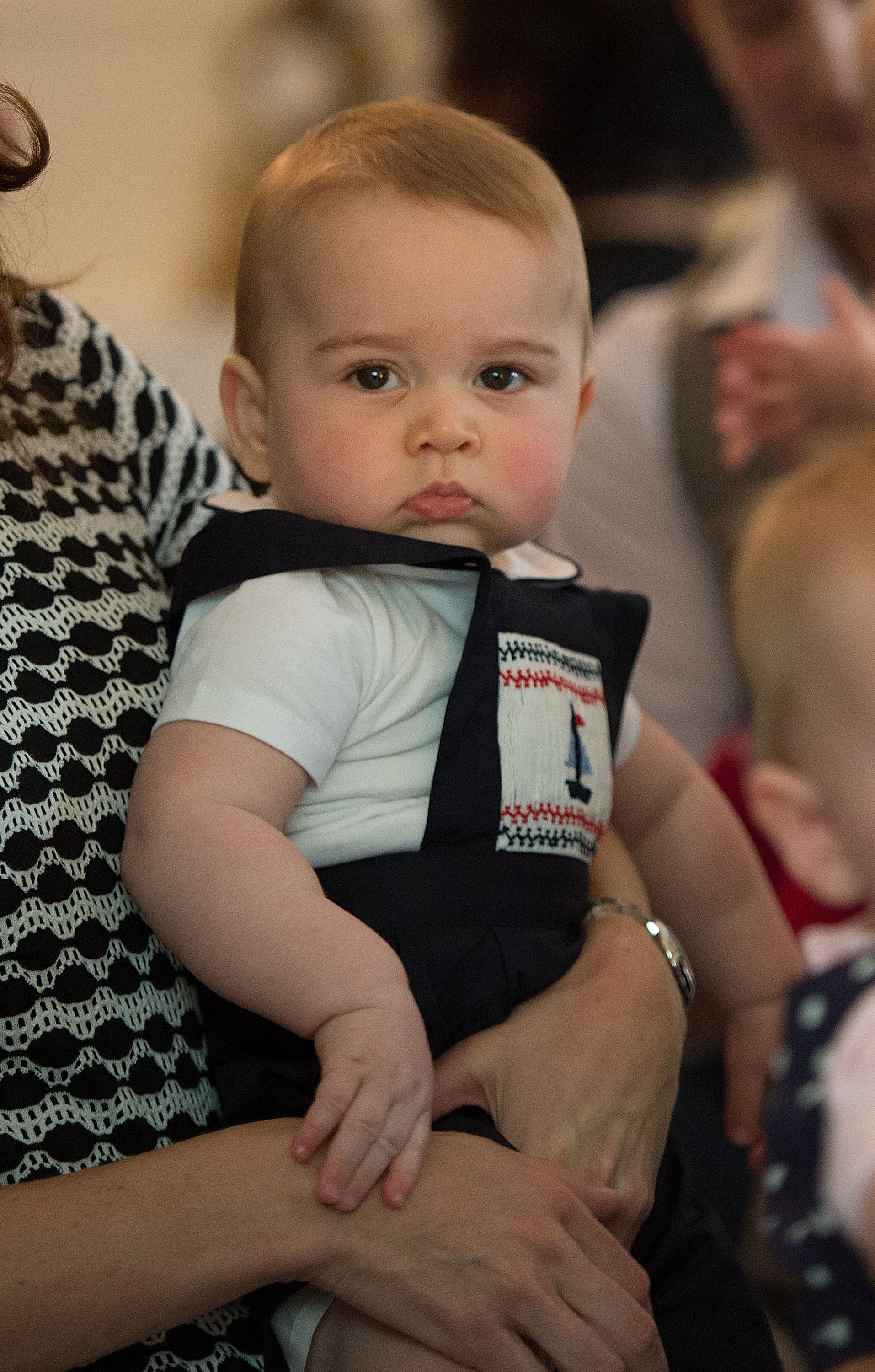 Prince George of Cambridge during his first official engagement at Government House on April 9, 2014 in Wellington, New Zealand.