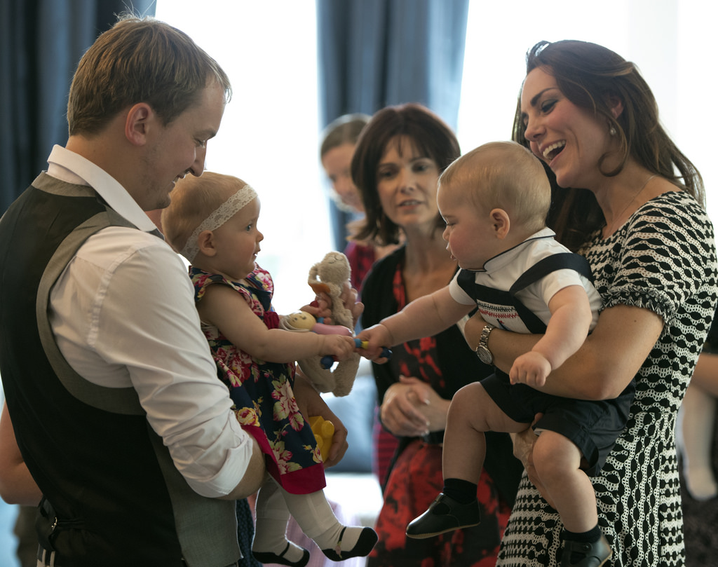 The Prince greeted well-wishers
