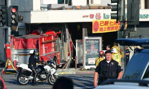 Fire Engines Crash In California 15