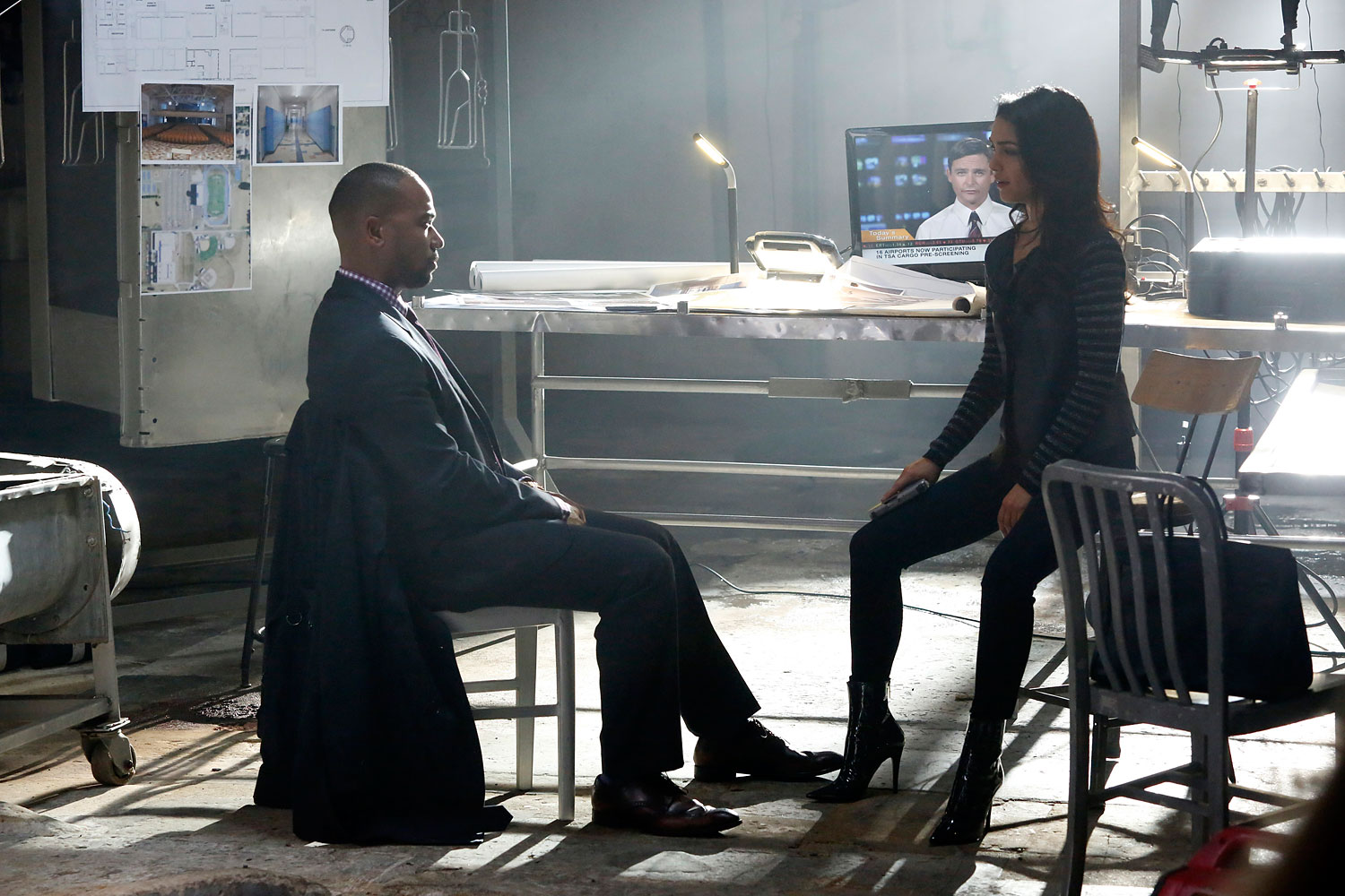 Columbus Short, left, in the third season of ABC's Scandal.