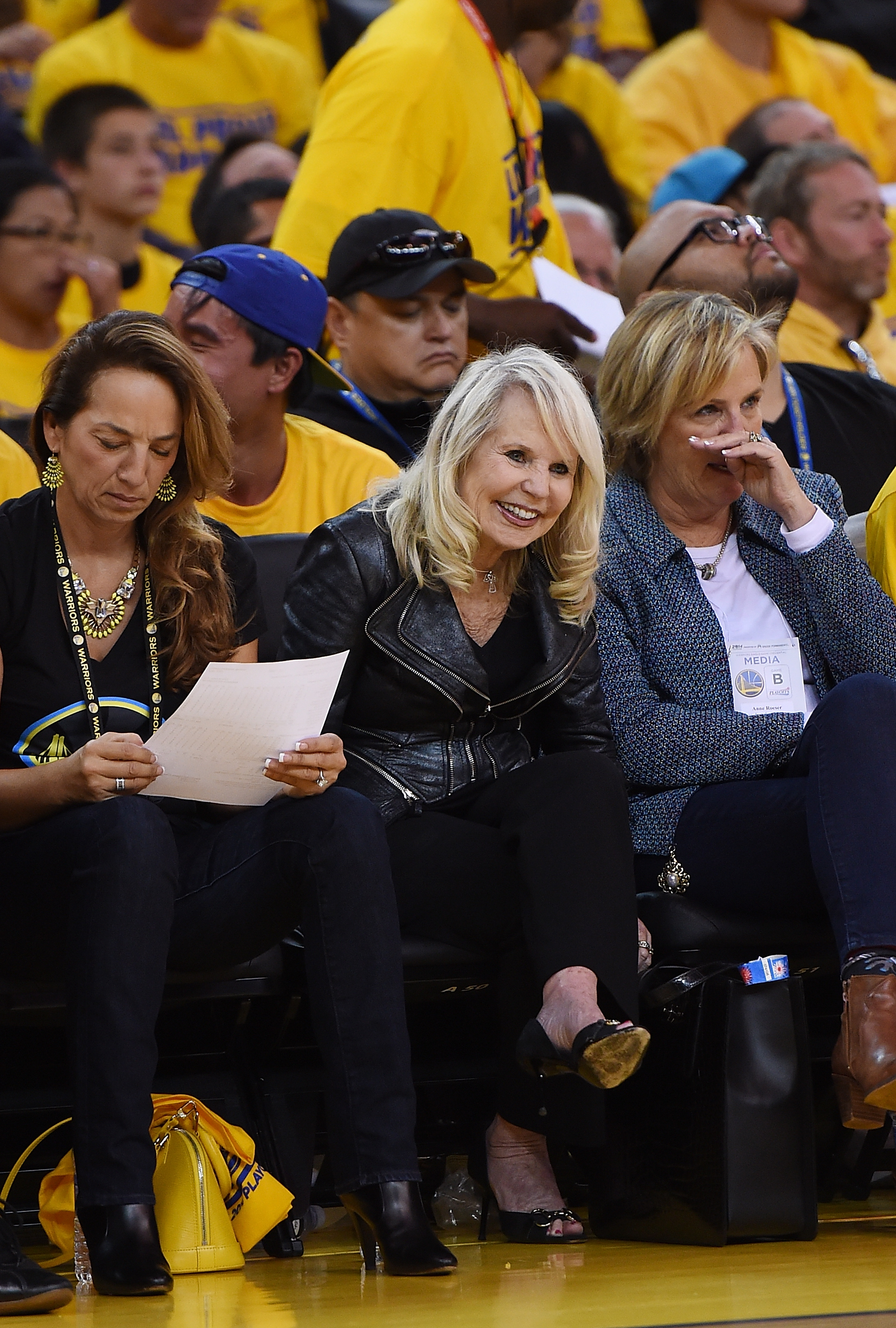 Shelly Sterling at ORACLE Arena on April 27, 2014 in Oakland, California.