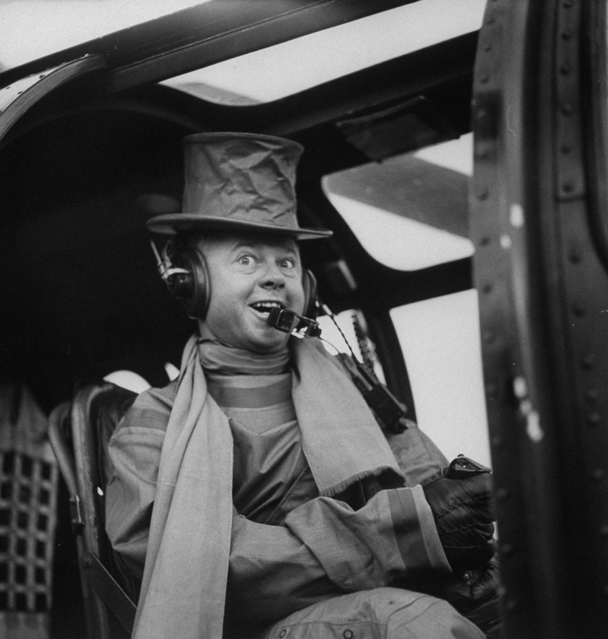 Rooney on the set of the 1955 film <i>Bridges of Toko-Ri</i>.