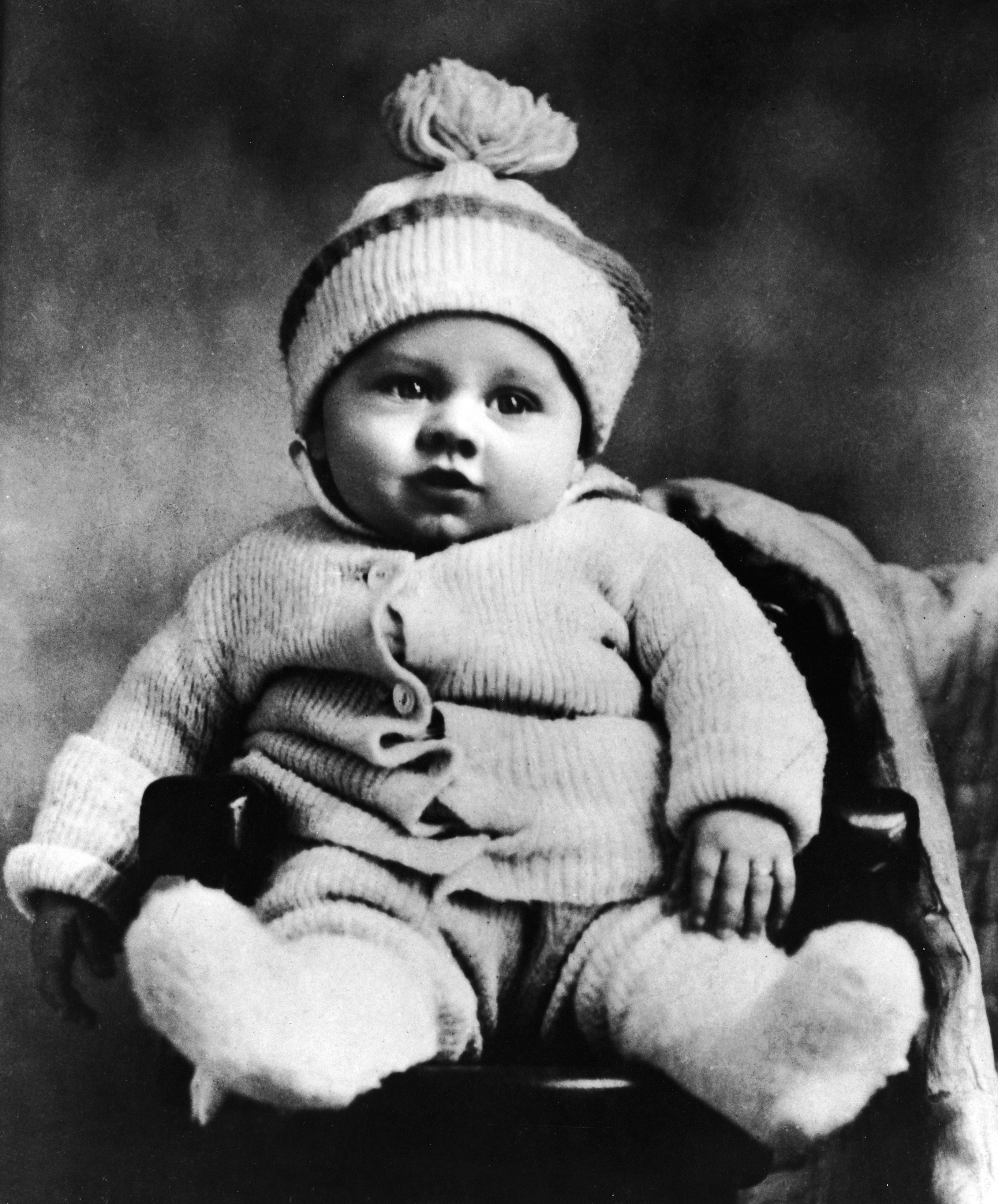 Mickey Rooney at five months old in 1921.