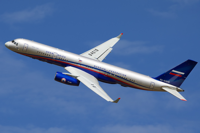 Russia's new Tu-214 reconnaissance aircraft.