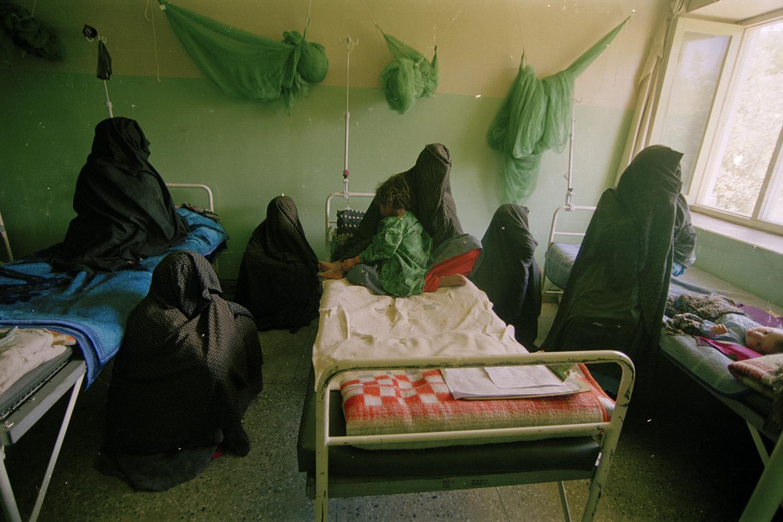 A women's hospital in Kabul, under Taliban rule, 2000.