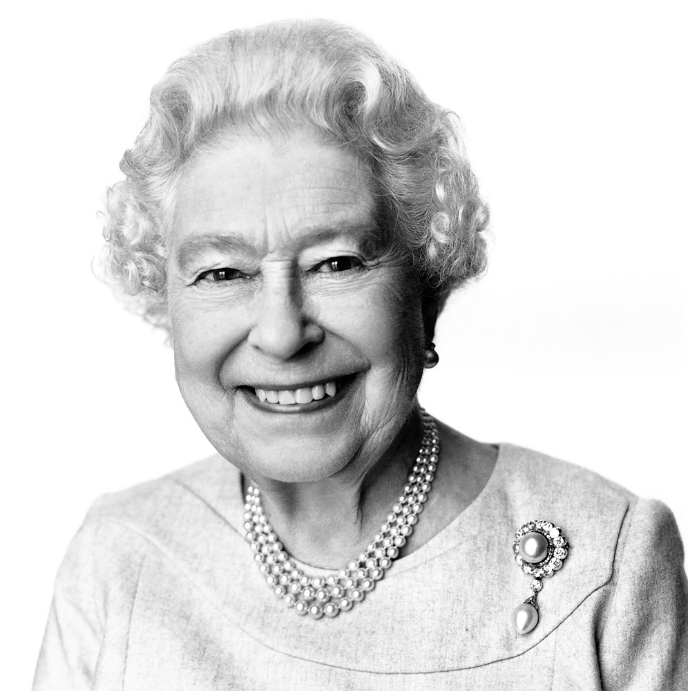 This portrait of Queen Elizabeth II taken and made available on April 20, 2014, by British photographer David Bailey has been released to mark her 88th birthday on Monday April 21, 2014. The photograph was taken at Buckingham Palace in March and was commissioned on behalf of the British Government's GREAT Britain campaign.