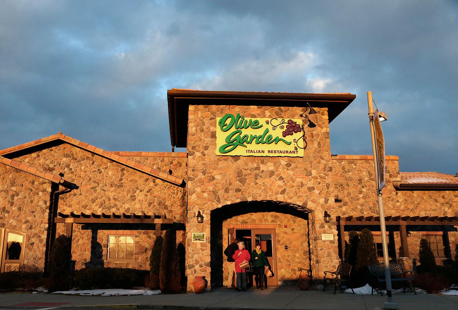 An Olive Garden restaurant in Foxborough, Mass., March 20, 2013.
