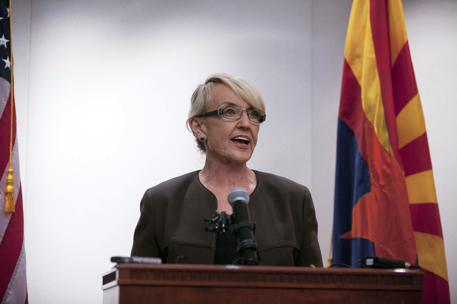Arizona Governor Jan Brewer. On Tuesday, she signed a bill allowing snap inspections of the state's abortion clinics