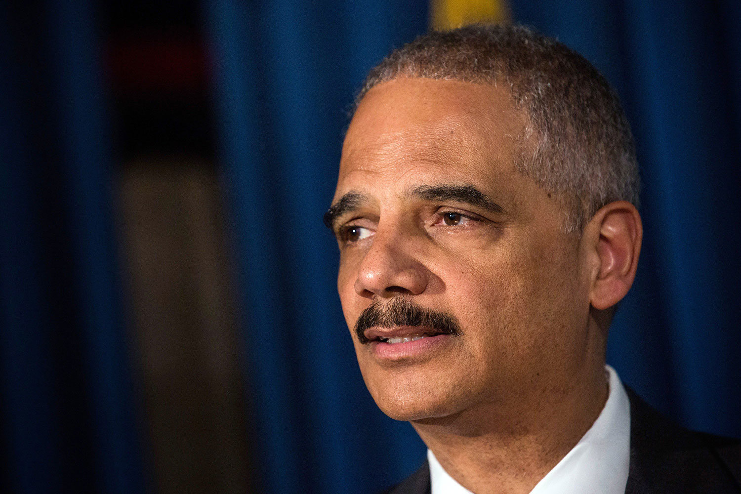 Attorney General Eric Holder speaks at a press conference on April 1, 2014 in New York.