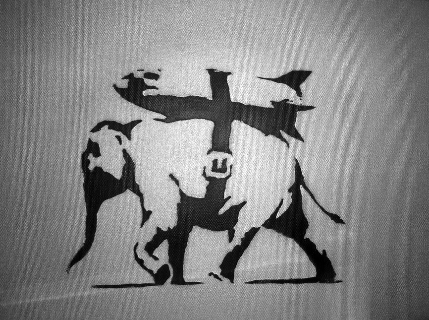 Shares in Banksy's  Heavy Artillery Elephant  are available to buy from My Art Invest