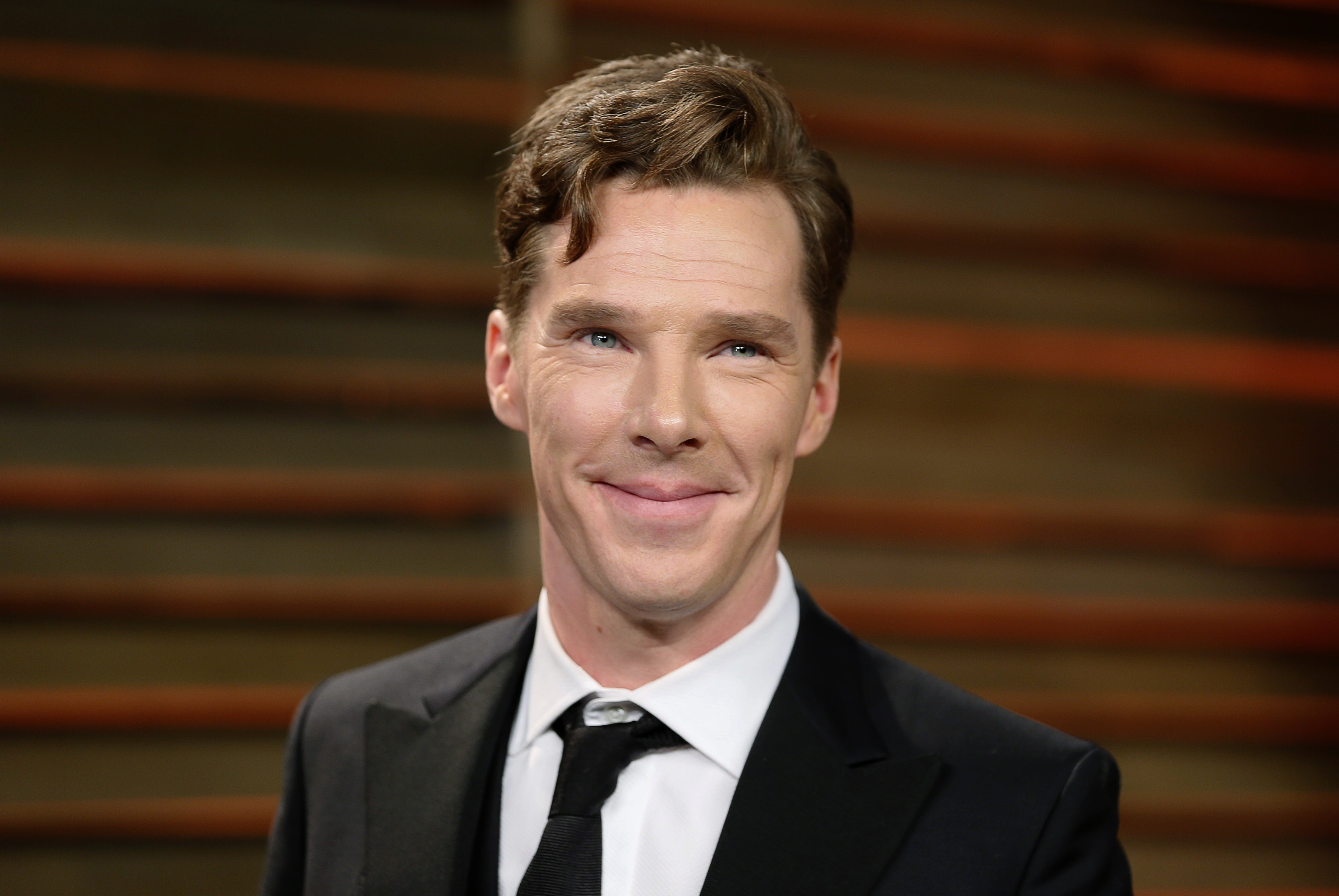 Benedict Cumberbatch arrives at the 2014 Vanity Fair Oscars Party in West Hollywood, on March 3, 2014.