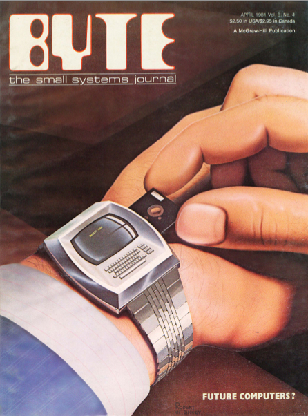 Robert Tinney's cover for the April 1981 issue of Byte magazine