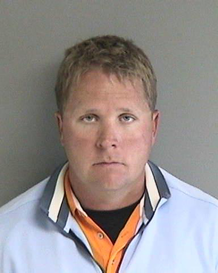 A booking photo of Andrew Nisbet in Dec. 2013.