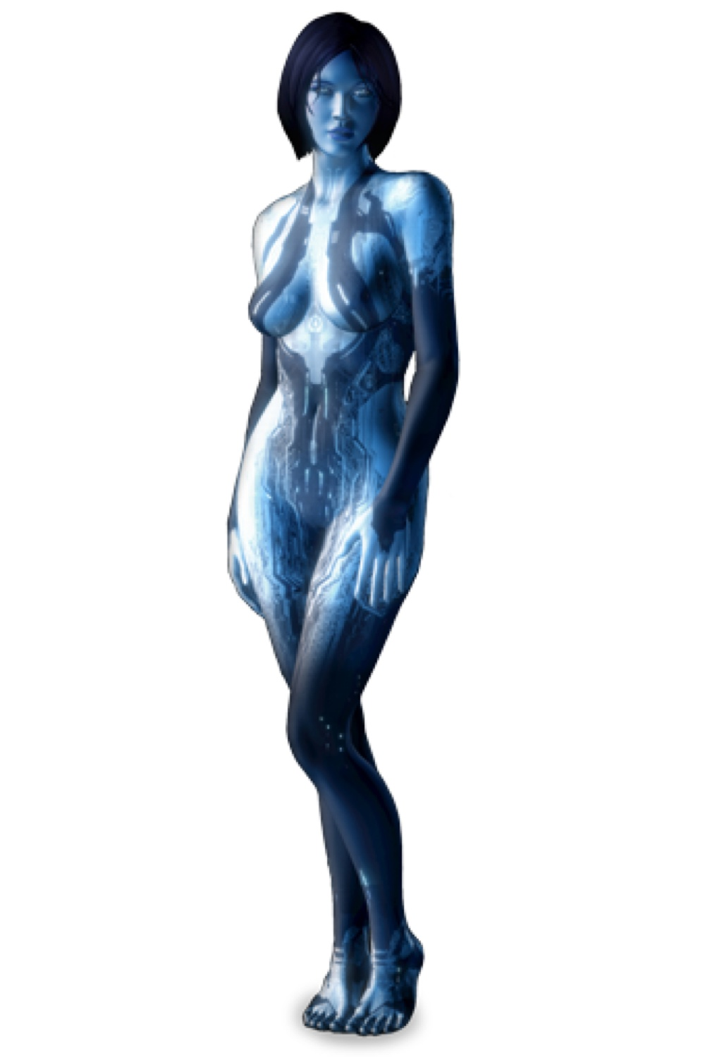 Cortana, the artificially-intelligent character from the popular Halo video game series
