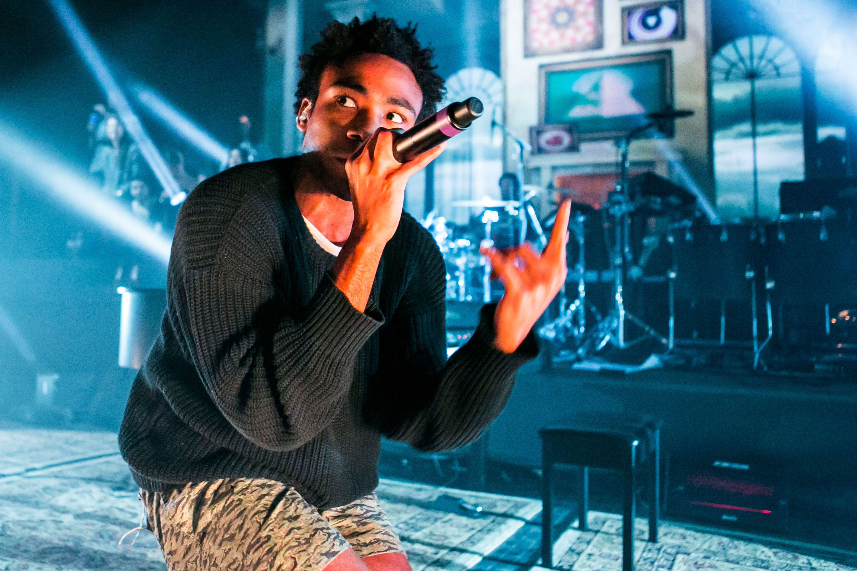 Donald Glover performs as Childish Gambino during his Deep Web Tour at The Fillmore on March 22 in Detroit, Michigan.
