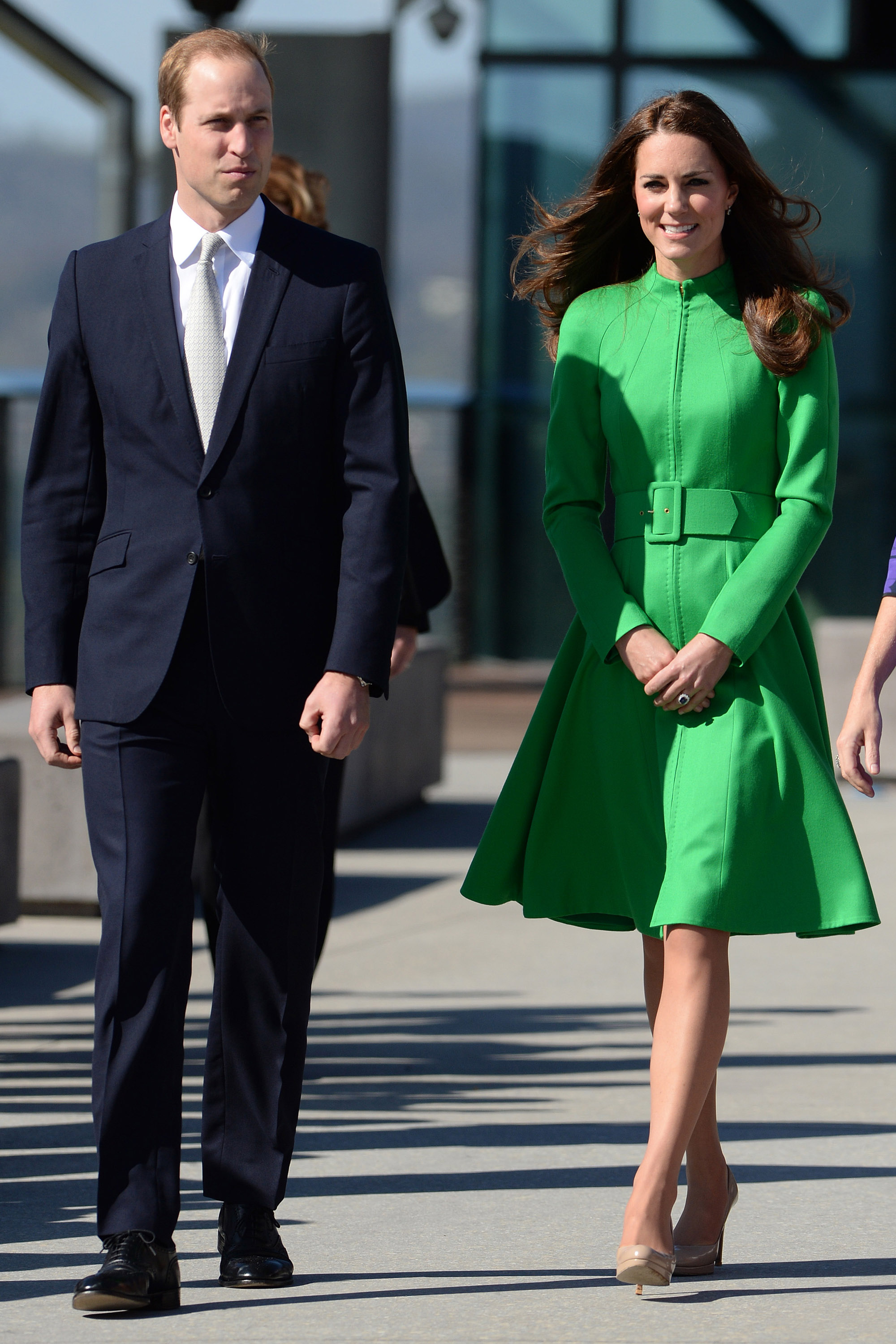 <strong>Seeing Green</strong>                                   From left: The Duke and Duchess visit the National Portrait Gallery in Canberra April 24, 2014.