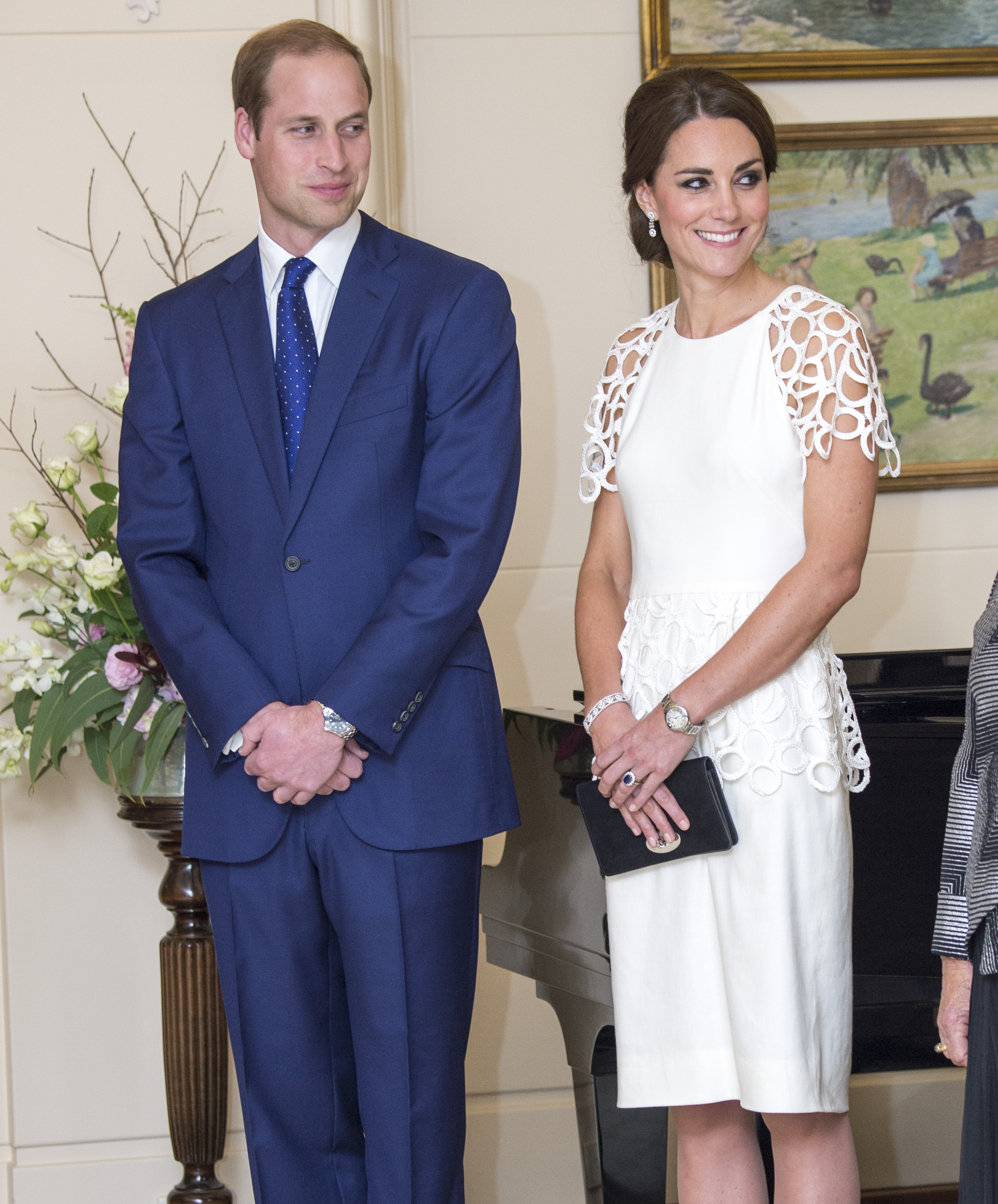 <strong>Royal Reception</strong>                                   From left: The Duke and Duchess of Cambridge during a reception at Government House in Canberra on April 24, 2014.