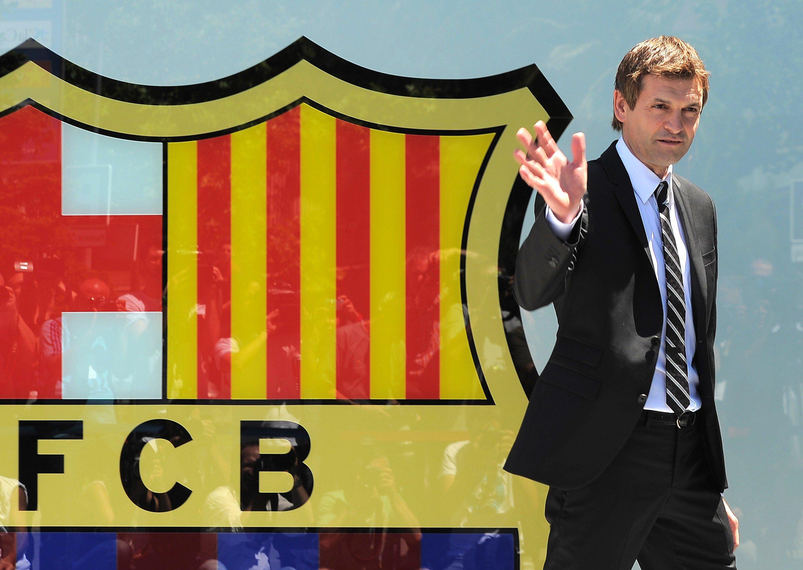 Former FC Barcelona football coach Tito Vilanova at the Camp Nou in Barcelona, June 15, 2012.