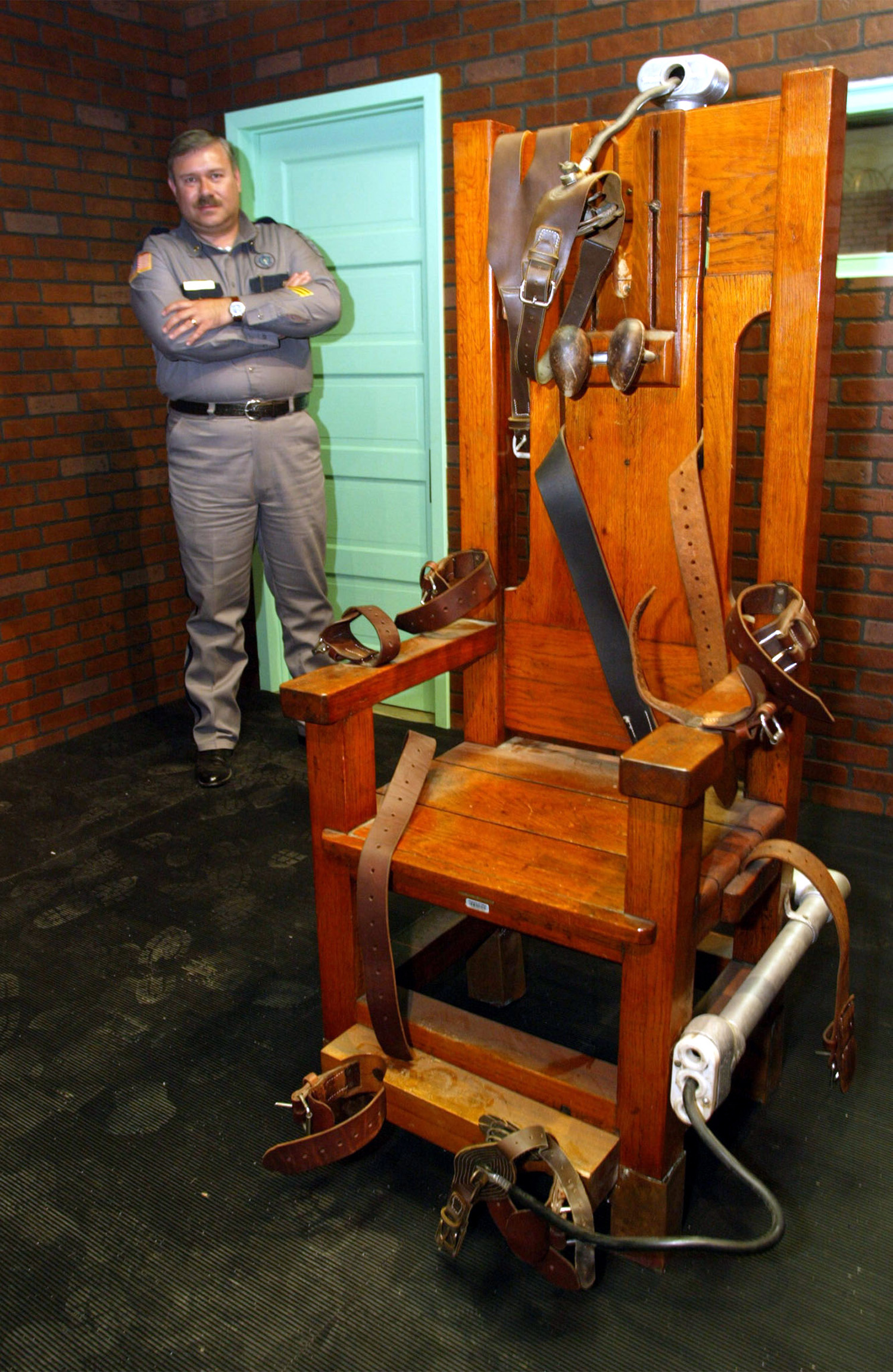 A file photo from November 19, 2002 of   Old Sparky,  the Texas electric chair in which 361 killers were executed. Senators in Tennessee voted to reinstate the electric chair this week.