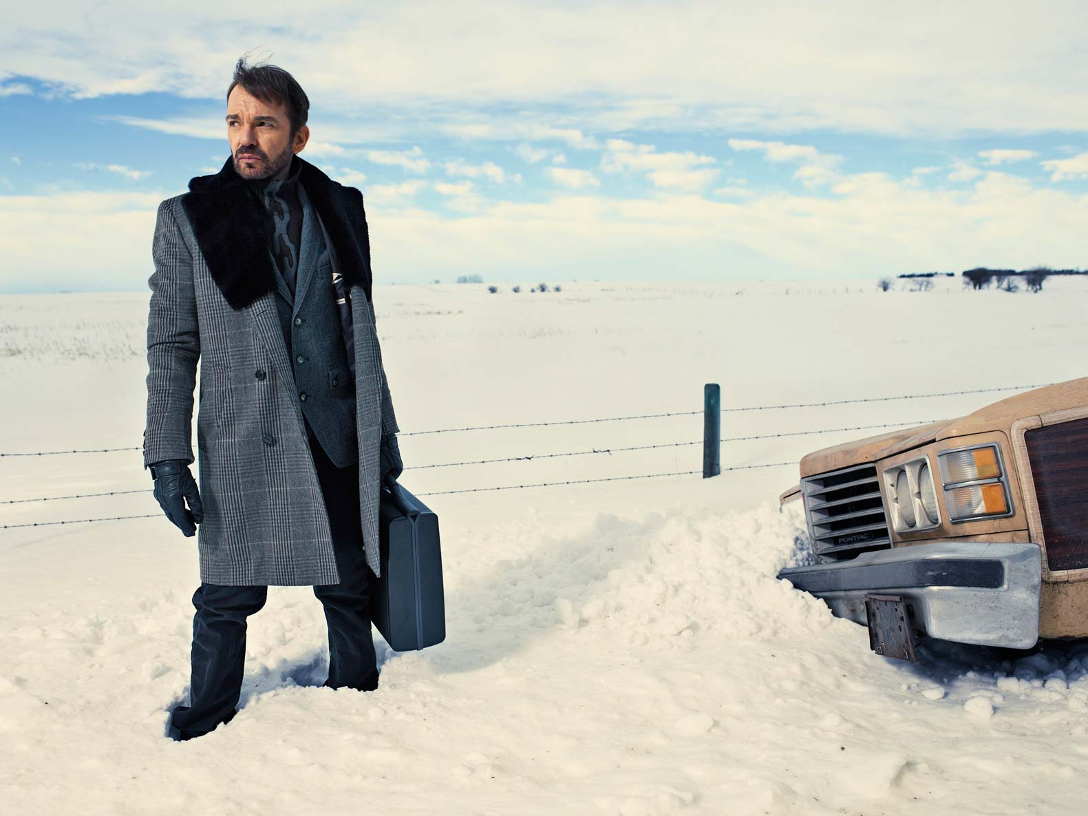 Billy Bob Thornton is up to no good as Lorne Malvo in the new FX series Fargo