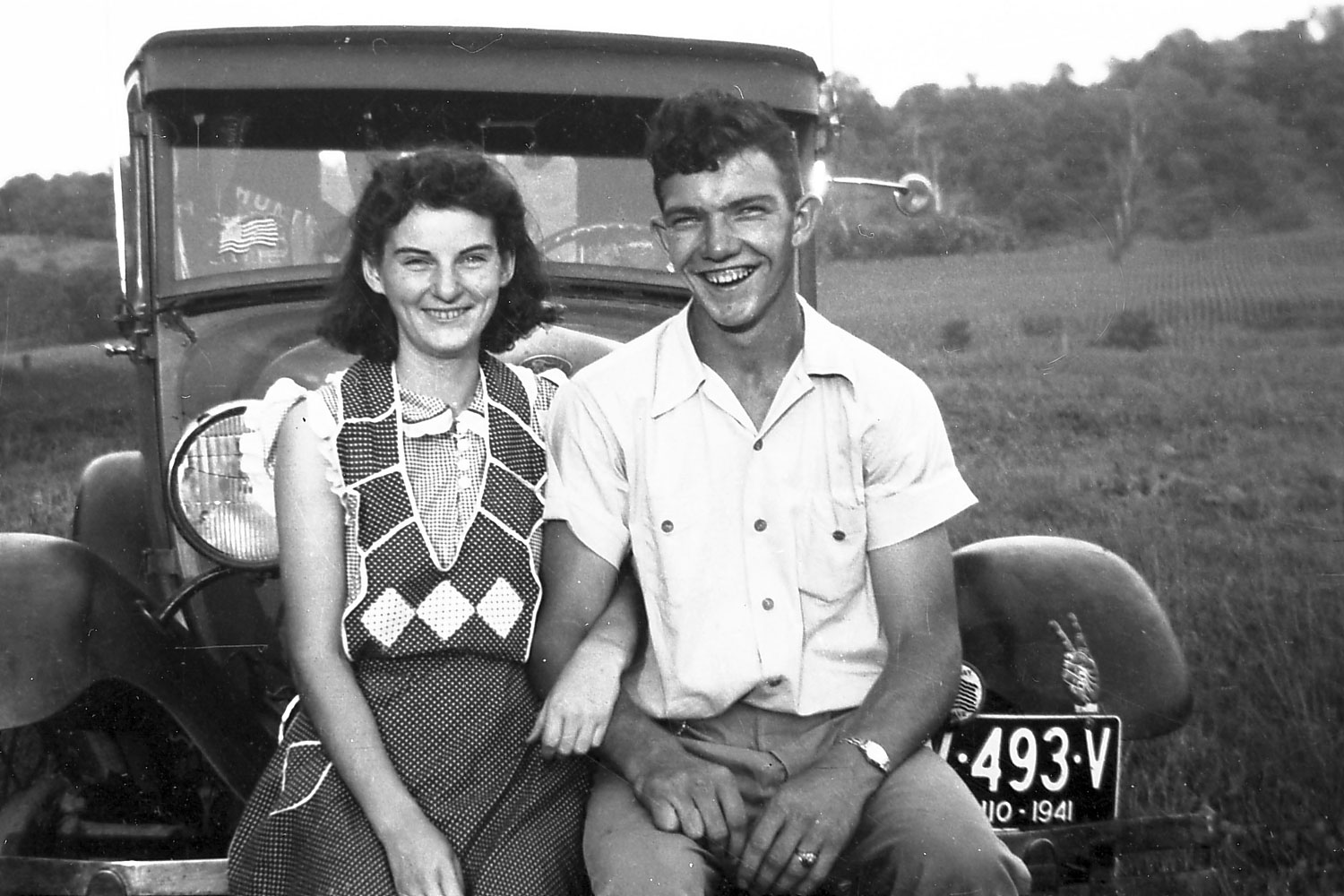 Kenneth and Helen Felumlee pose for a photo in September 1941.