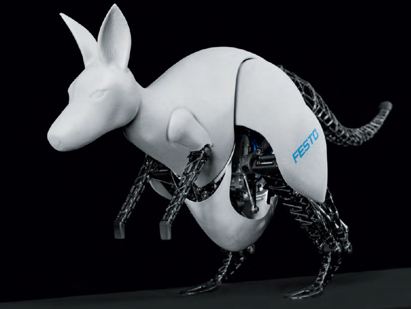 The BionicKangaroo, revealed by Festo Thursday, can jump for long periods of time without tiring