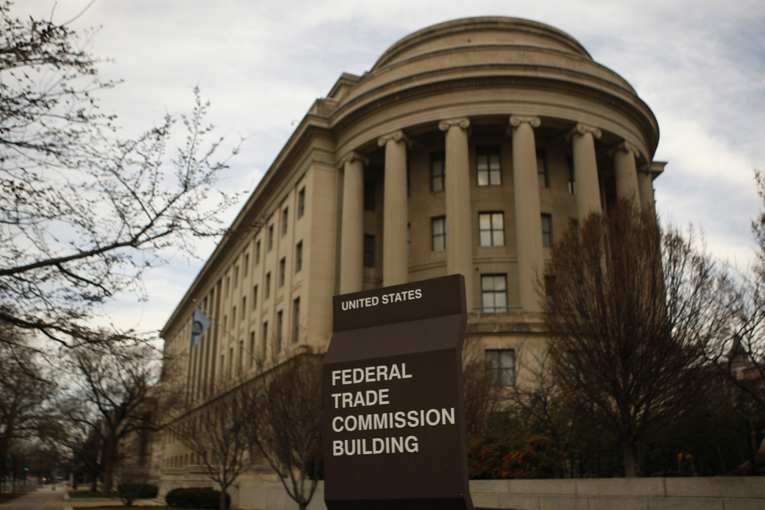 The Federal Trade Commission building in Washington D.C. The agency slammed a data broker for labeling job applicants as sex offenders this week.