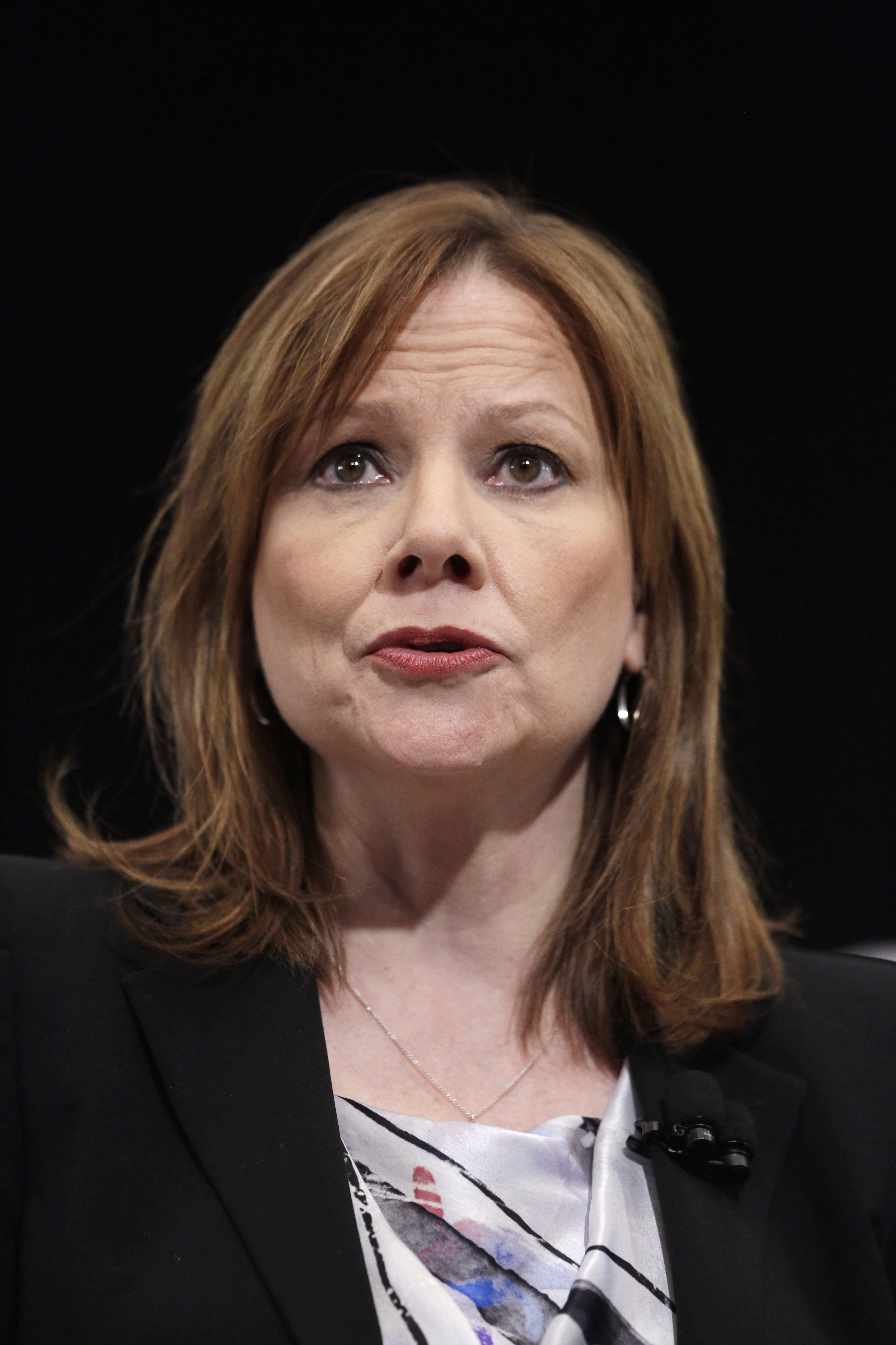 Mary Barra, CEO of General Motors, speaks at the New York International Auto Show, on April 15, 2014 in New York City.