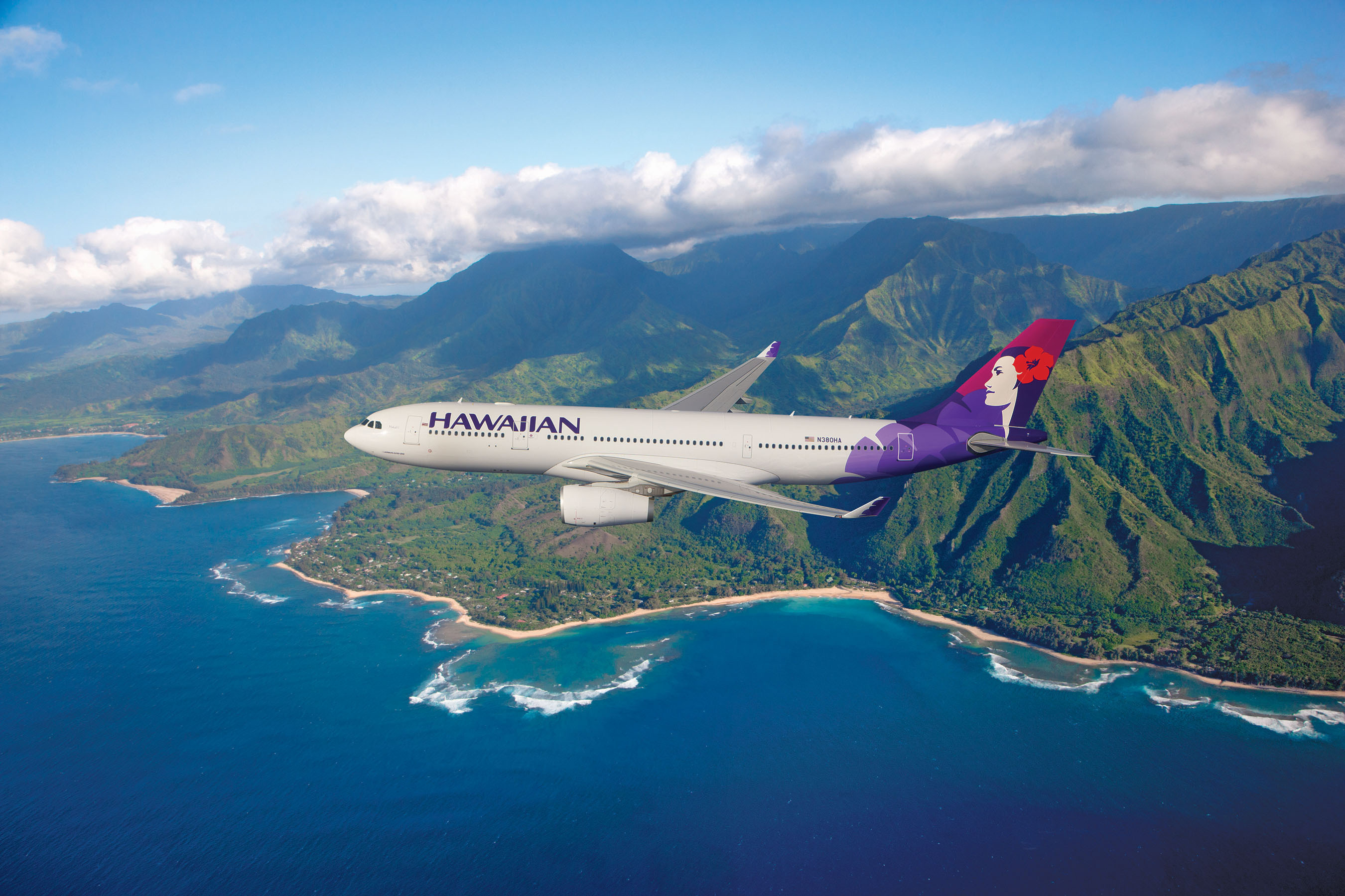 Hawaiian Airlines' wide-body, twin-aisle Airbus A330-200 aircraft.