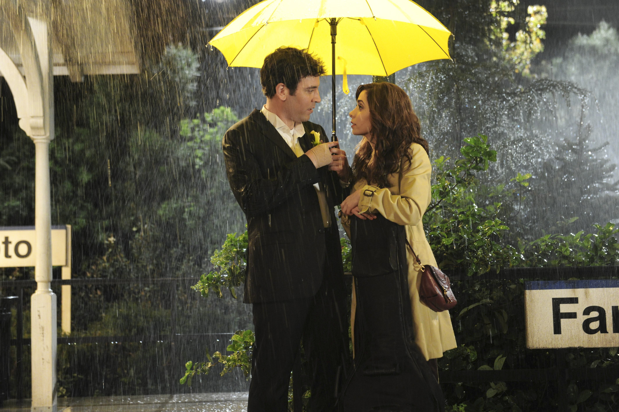 From left: Josh Radnor as Ted and Cristin Milioti as Tracy in the finale of How I Met Your Mother.