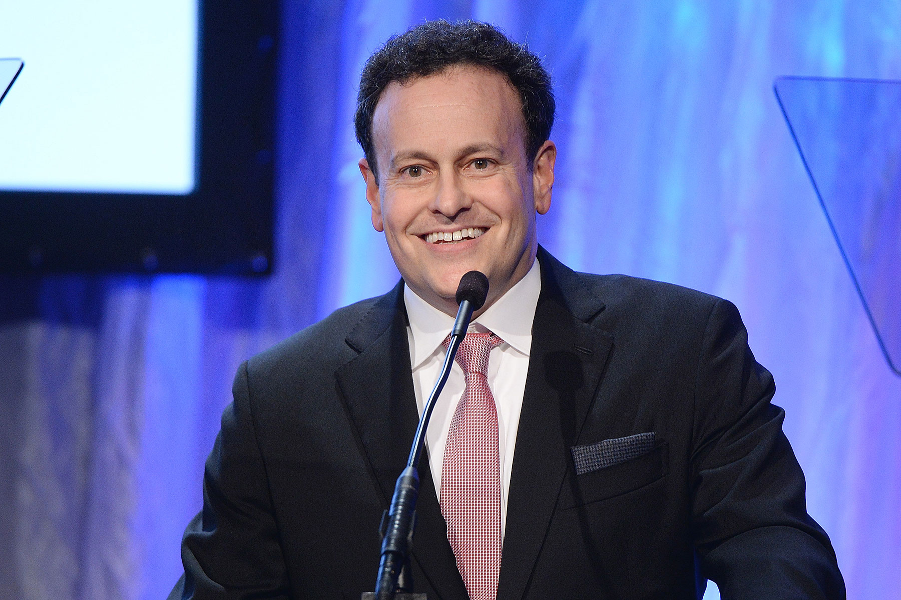 Producer Mitchell Hurwitz emcees Simon Wiesenthal Center's 2014 Tribute Dinner at Regent Beverly Wilshire Hotel on March 18, 2014 in Beverly Hills, California
