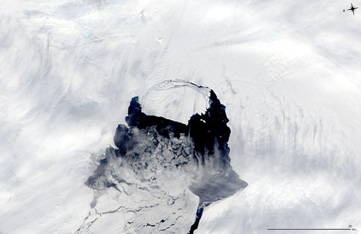 The Pine Island Glacier, twice the size of Atlanta, is calving away from Antarctica.