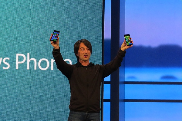 Microsoft's Joe Belfiore at the Build conference in San Francisco on April 2, 2014
