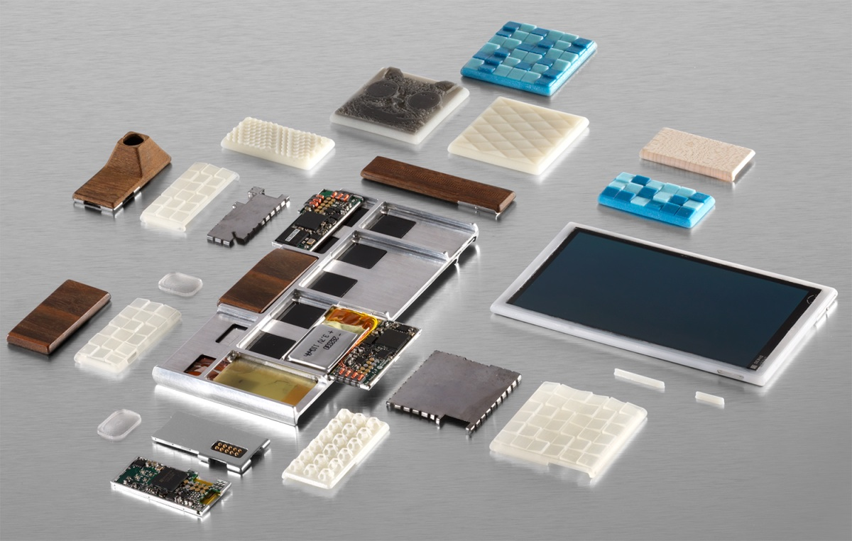 Google's Project Ara phone, broken down into its component parts