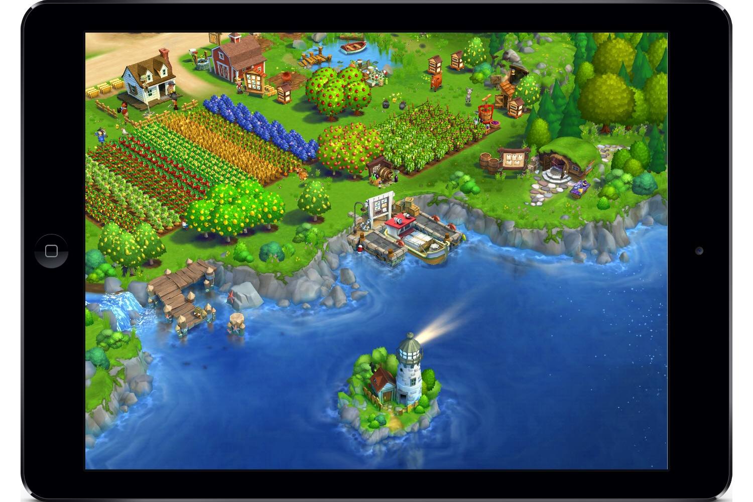 In FarmVille 2: Country Escape, your farm is on the coast--and on your phone or tablet