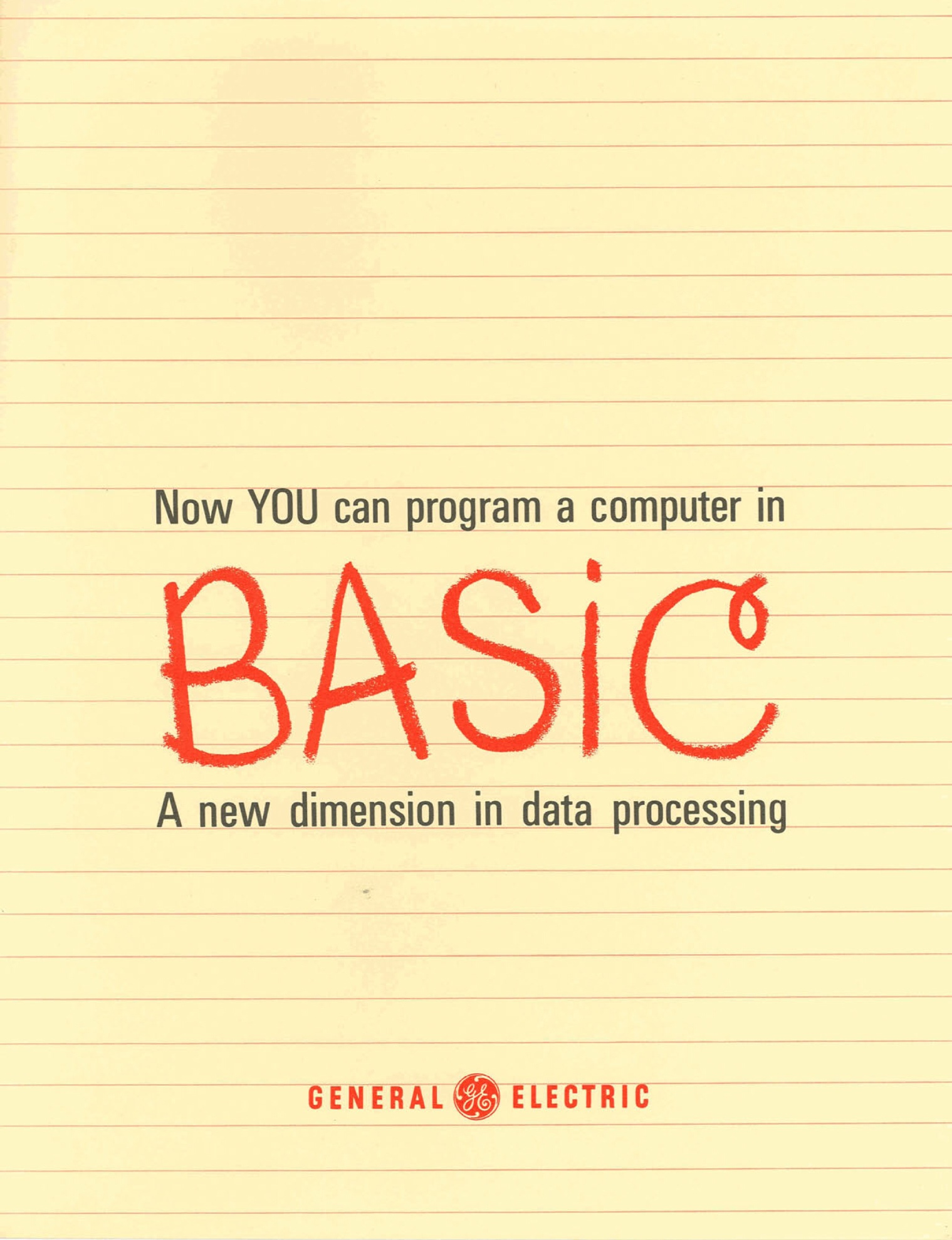 The cover of a General Electric brochure touting its version of Dartmouth BASIC