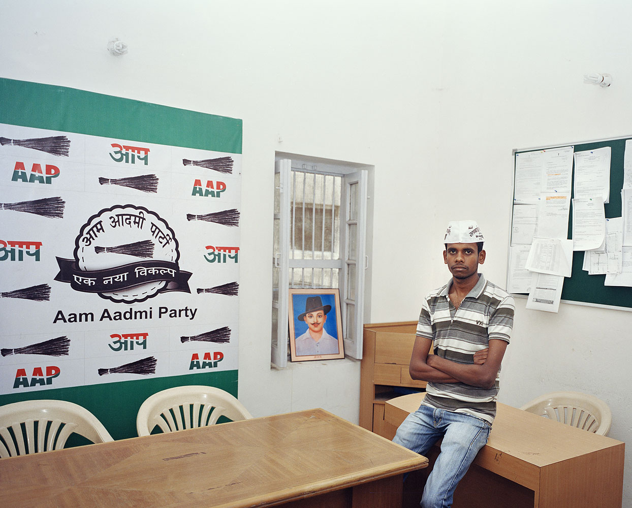 Anup Shah, 21, Engineering student                               Shah volunteers for the Aam Aadmi party in his spare time. He believes that the party, which has its roots in an anti-corruption movement that came to national prominence in 2011, can change India's feudal system of governance.