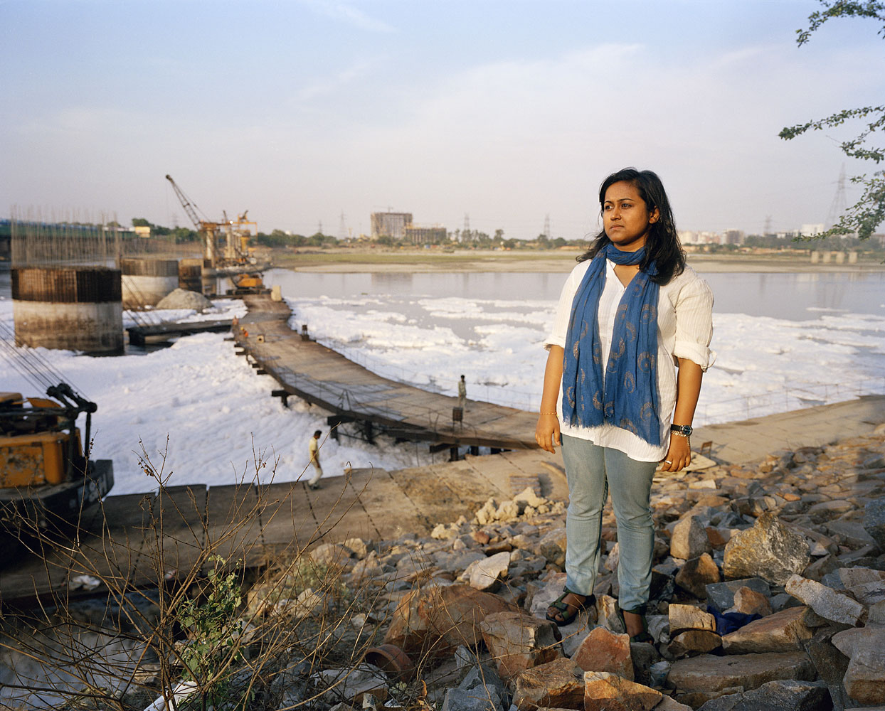 Bhaswati, 21, Sociology student                               Bhaswati is passionate about the environment and volunteers with an organization called 'Swechha' that began as campaign to raise awareness about pollution in the River Yamuna. Bhaswati feels there is a distinct lack of commitment from the government when it comes to environmental issues.