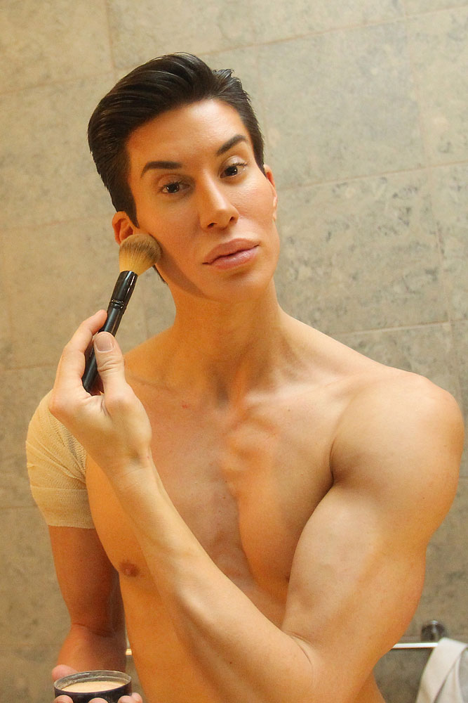 Justin Jedlica who lives in New York is a real life  Ken  from the other half of Barbie and Ken.