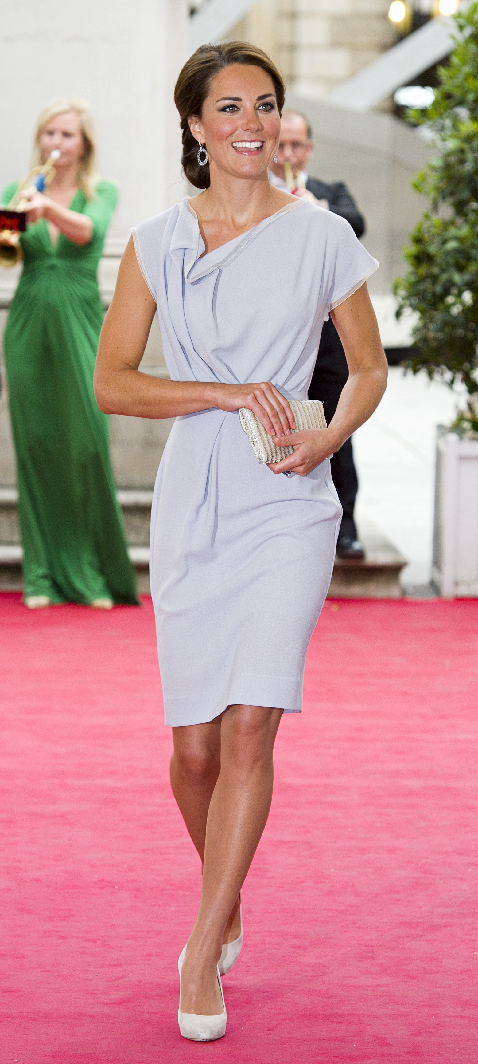 <strong>Roksanda Repeat</strong>                                   The Duchess chose a grey shift by Serbian-born designer Roksanda Ilincic for an event at the Royal Academy of Arts in London on July 31, 2012. She first wore the number in 2011 on an official visit to Los Angeles.