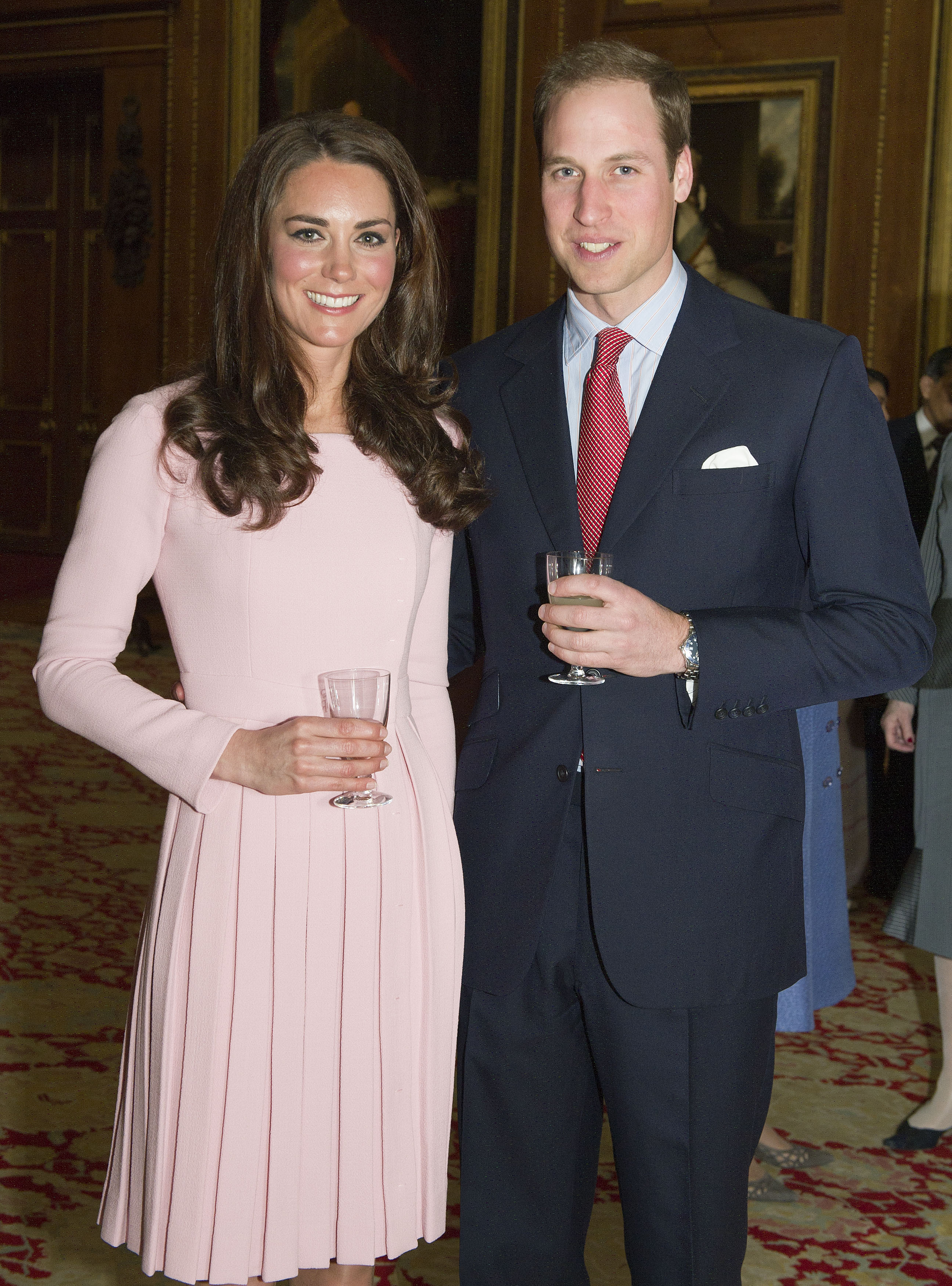 <strong>Pretty in Pink</strong>                                   On May 18, 2012, the Duchess wore a pretty and pink Emilia Wickstead fitted frock at the Lunch For Sovereign Monarchs event at Windsor Castle.